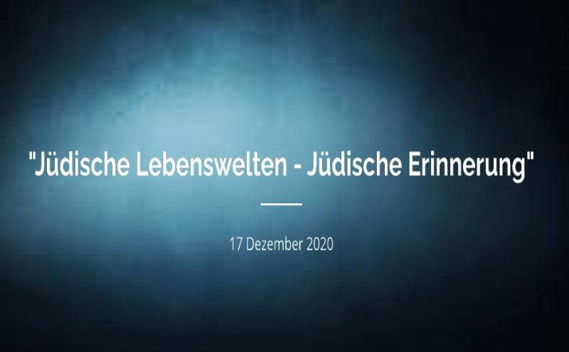Online Filmvortrag: Jüdische Lebenswelten - Jüdische Erinnerung